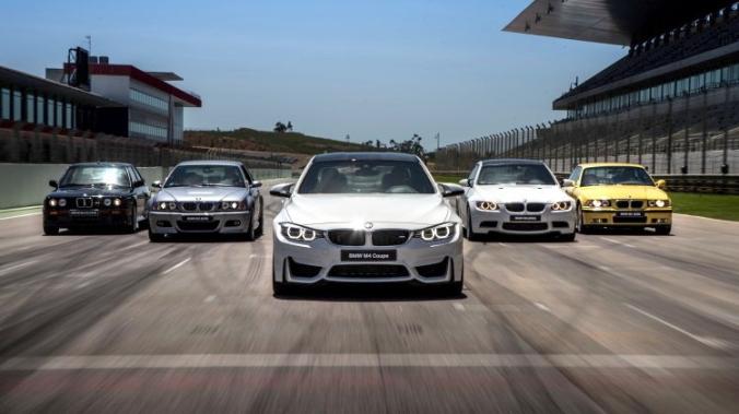 (L-R) E30, E46, F80, E92, E36.